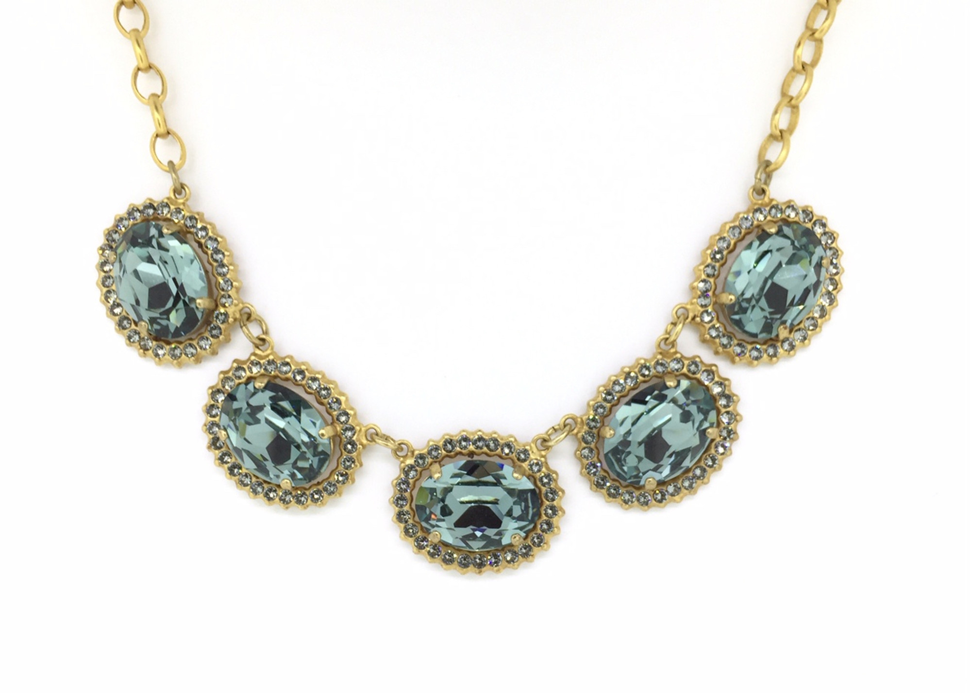Gold Indian Sapphire Swarovski Crystal Queens Jewels Necklace - Mima s Of  Warwick bc4157781