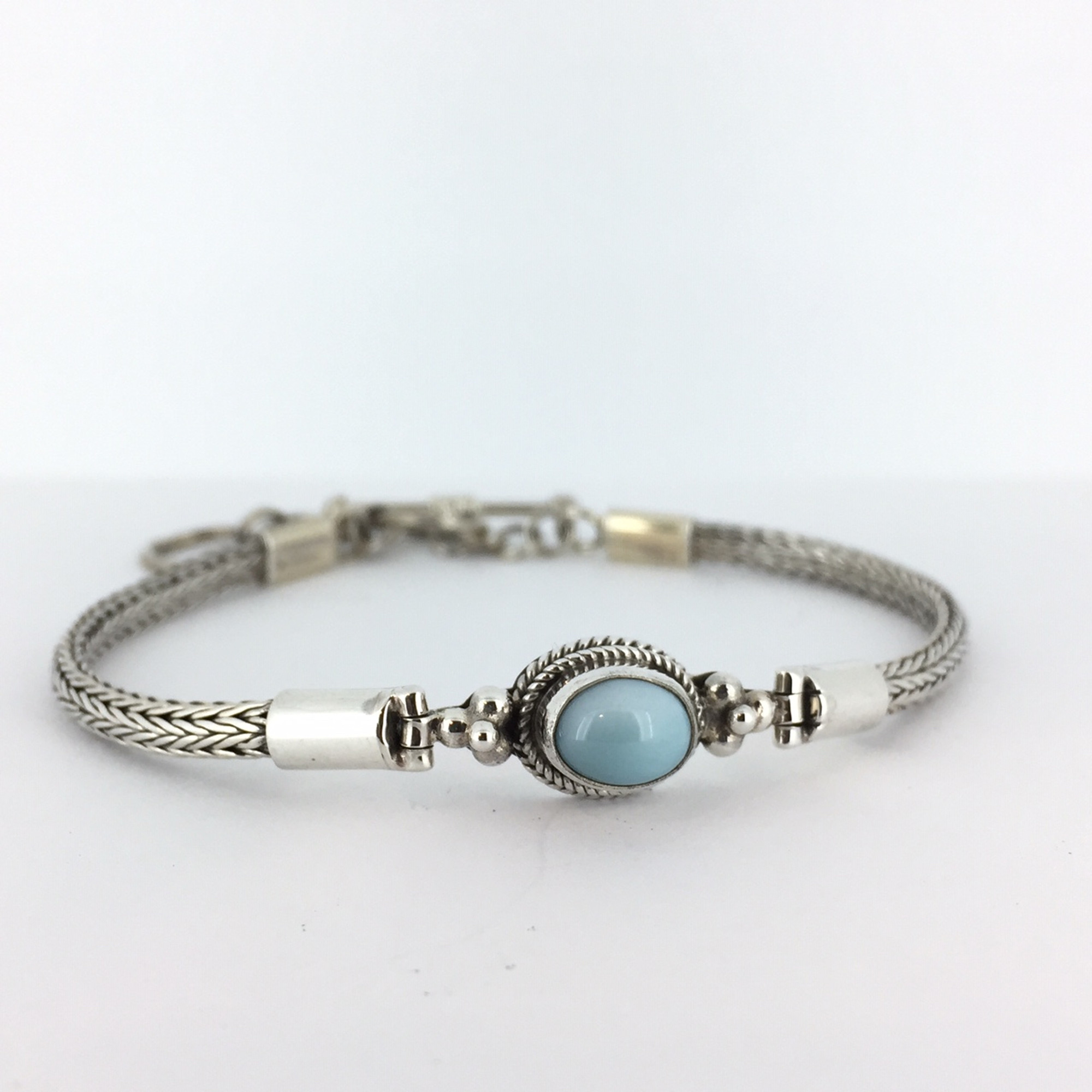 65663862b Larimar Sterling Silver Bali Toggle Bracelet - Mima's Of Warwick, LLC