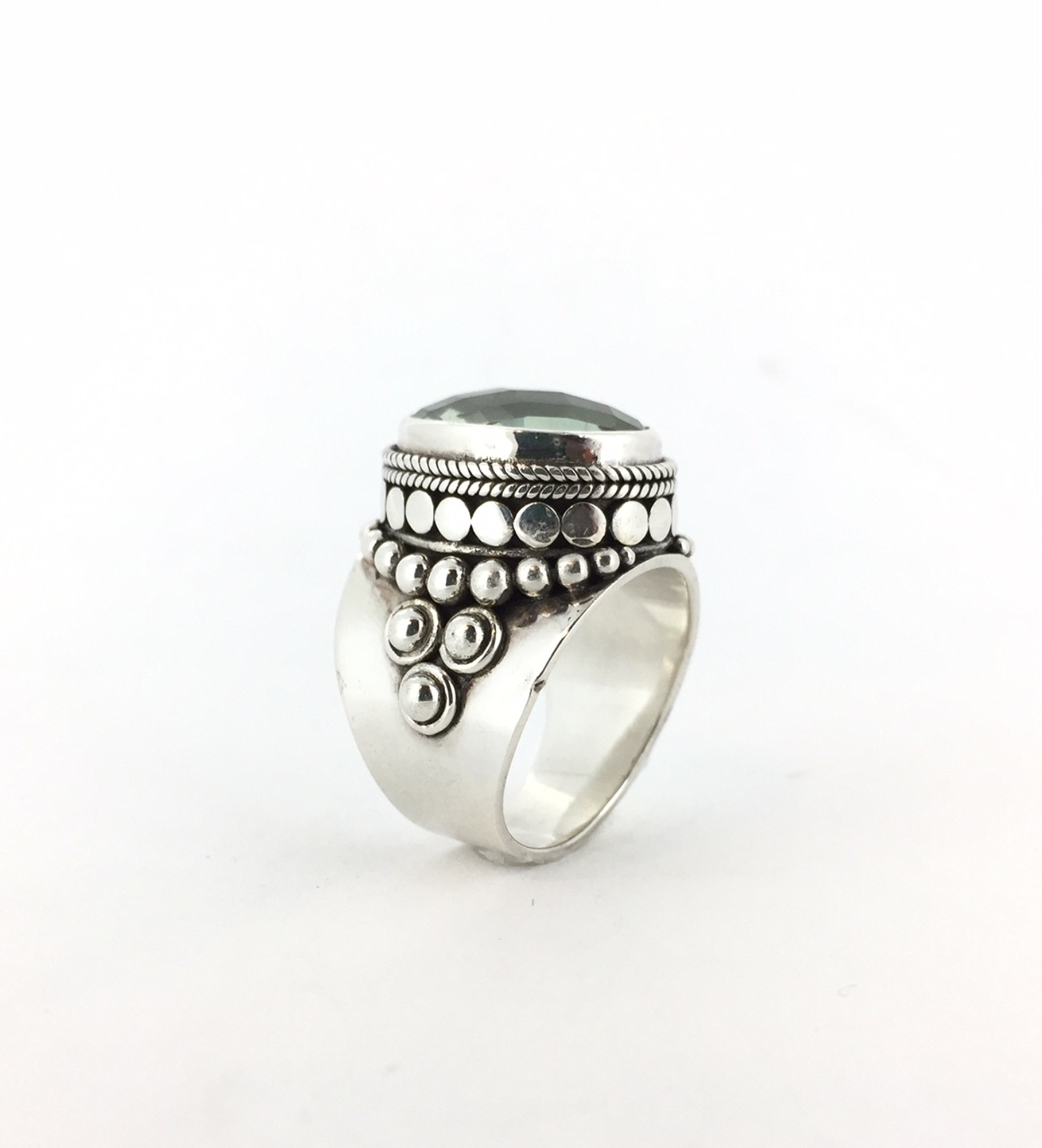 499f8fd85 Large Oval Green Amethyst Ring - Size 7 Only - Mima's Of Warwick, LLC