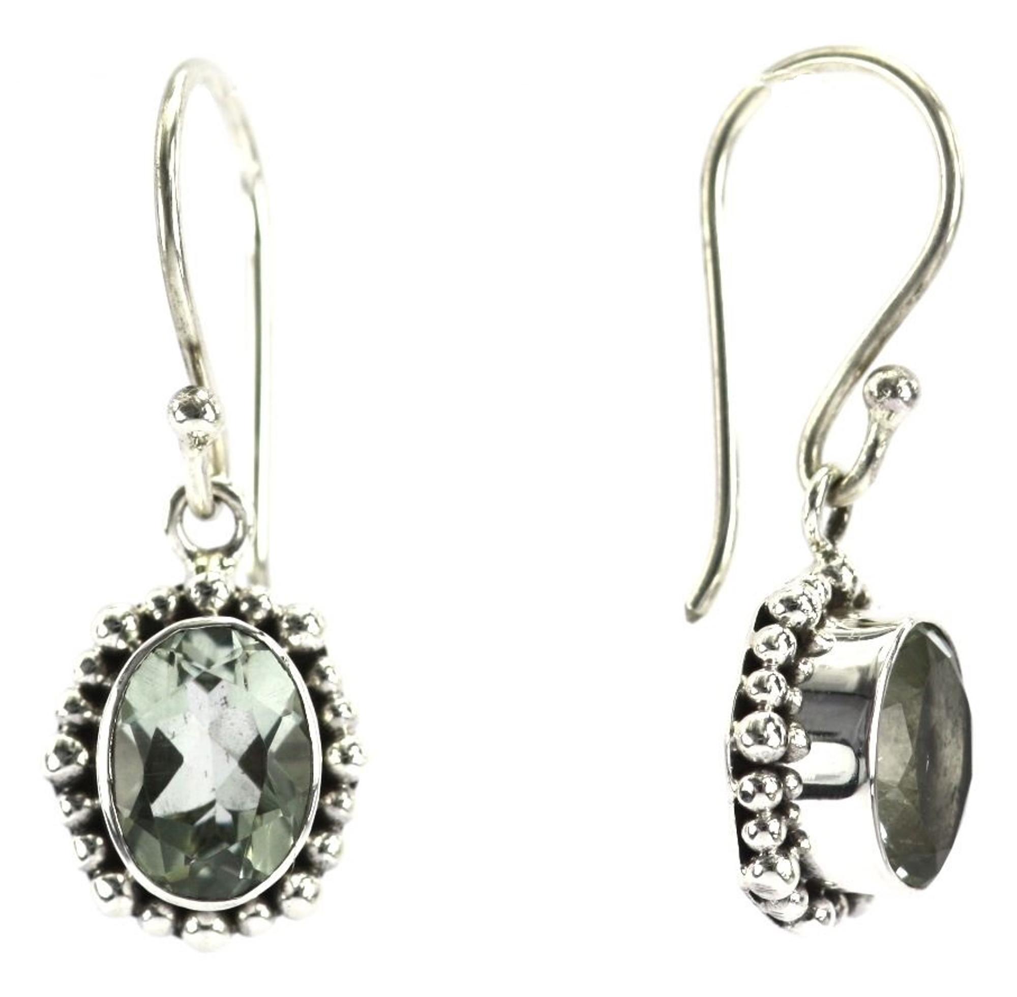3b25b2c9c Padma Beaded Green Amethyst Oval Drop Earrings - Mima's Of Warwick, LLC