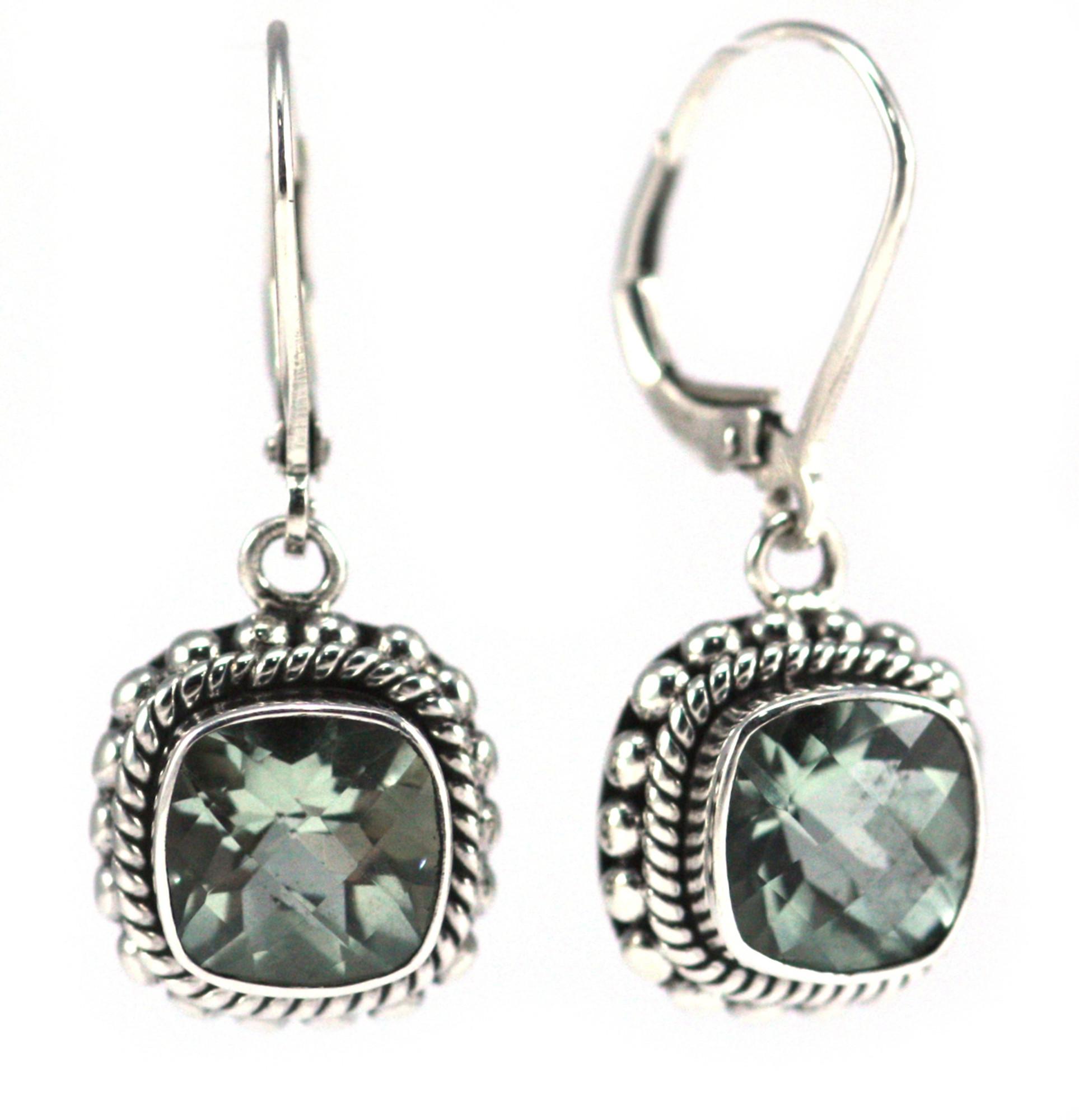 0f5a6d058 Padma Faceted Green Amethyst Drop Earrings - Mima's Of Warwick, LLC