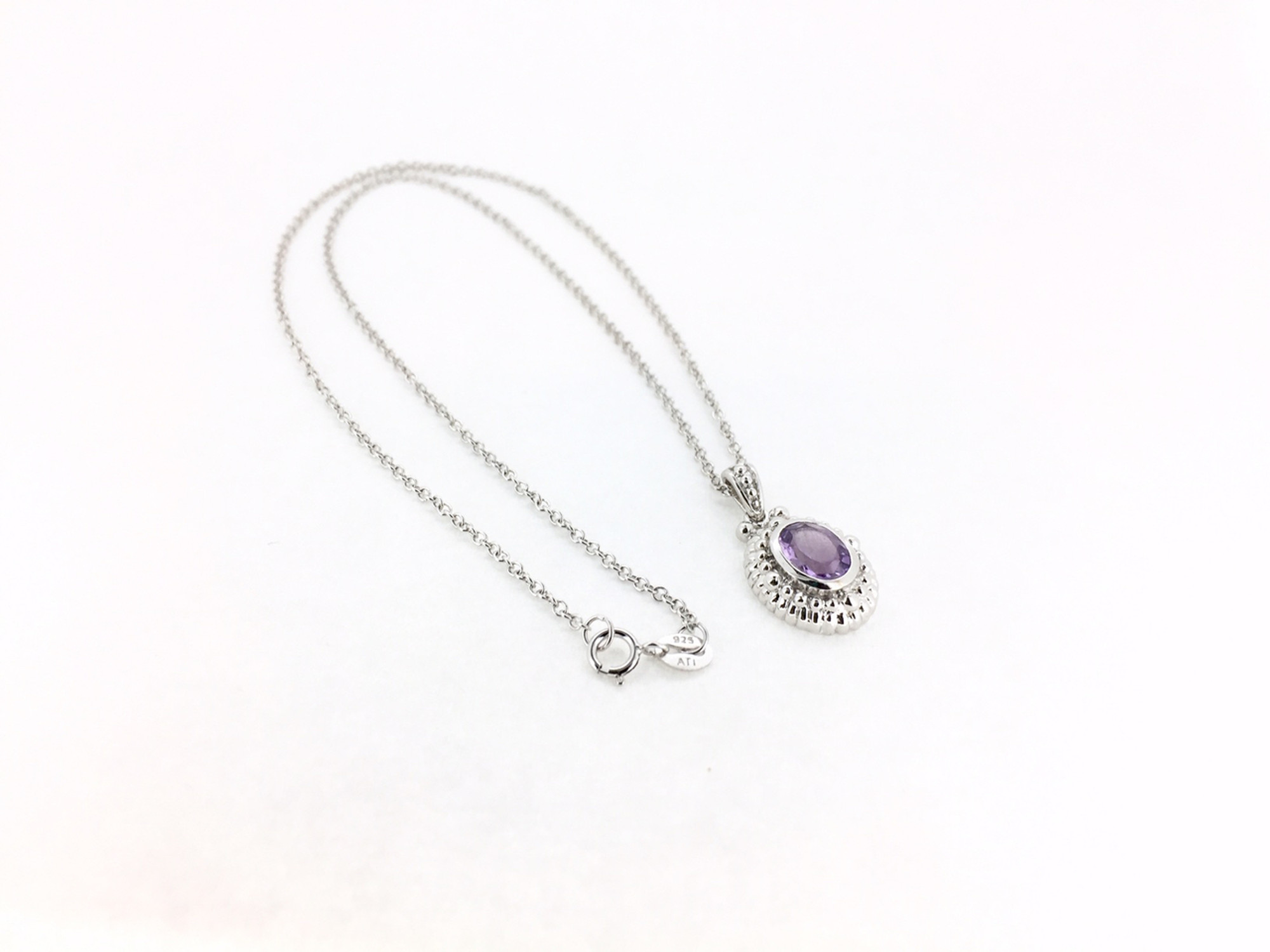 78a862a6e Sterling Silver/Amethyst Oval Necklace Sterling Silver/Amethyst Oval  Necklace