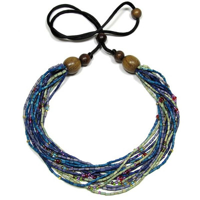 "Handmade Multi-Strand Zulugrass African Necklace ""Watamu"""