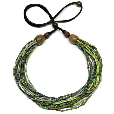 "Handmade Multi-Strand Zulugrass African Necklace ""Challa"""