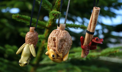 Tree Frogs Christmas Ornaments-Set of 3 - Netsukes Series