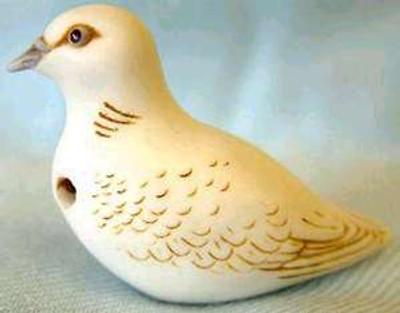 Turtle Dove Palm Charm, Ivory