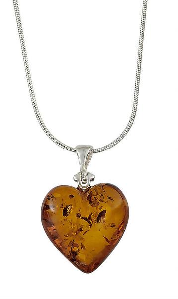 Heart Honey Amber Pendant