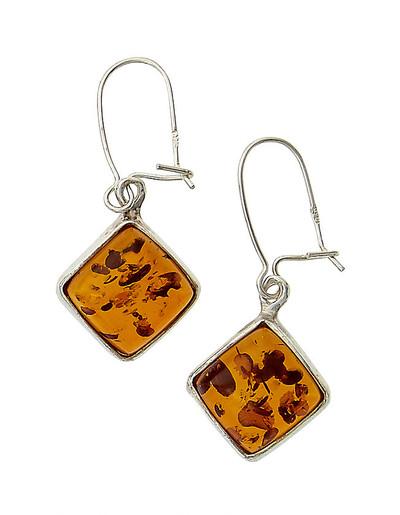 Earrings in Honey Amber