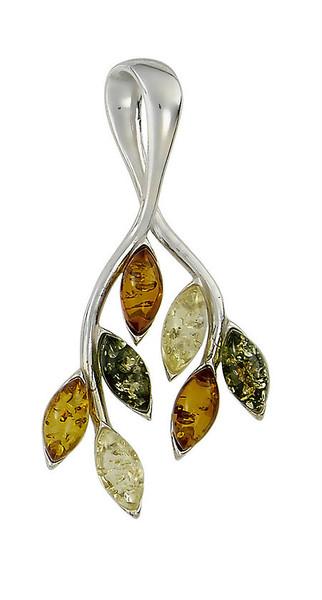 Multi-Color Amber Branch Pendant