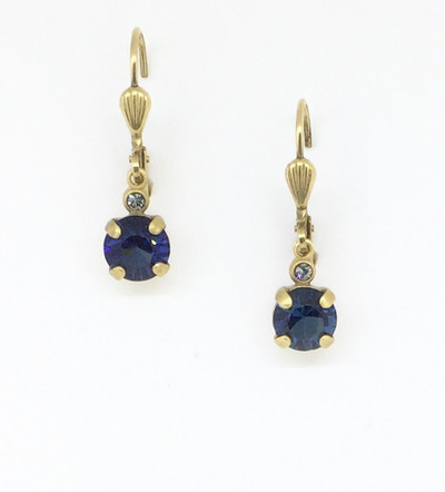 df25c087c Small Silver Rectangle Montana Blue Crystal Earrings - Mima's Of ...