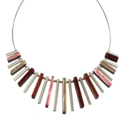 """Cherry"" Square Sticks Necklace"