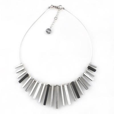 """Black/White"" Square Sticks Necklace"