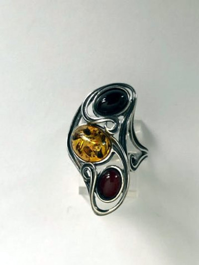 Ring, Multi-Color Ovals - Size 7 Only