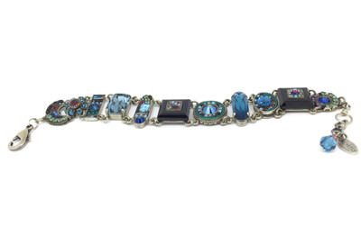 """La Dolce Vita"" Bracelet, Midnight Blue Swarovski Crystals"