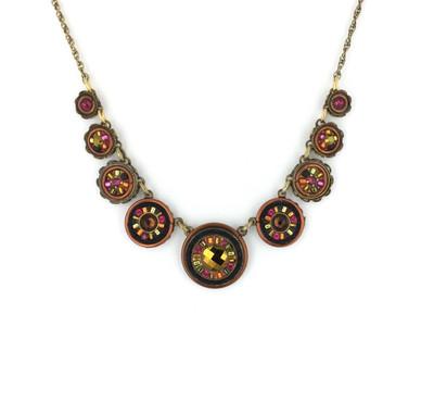"""La Dolce Vita"" Circles Necklace in Smokey Topaz"