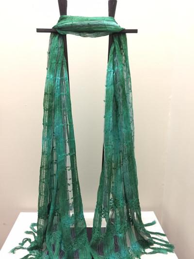 Taka Silk Scarf, Emerald Delight