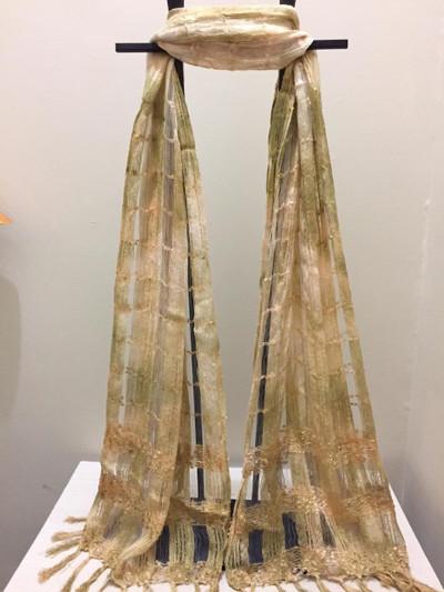 Taka Silk Scarf,  Flaxen Fields