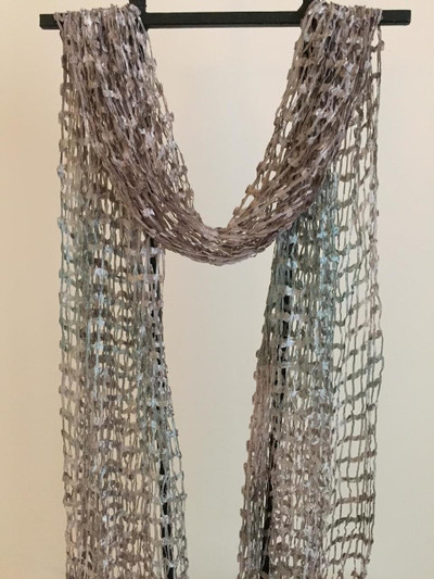 Open Weave Silk Scarf,  Pacific Shoreline
