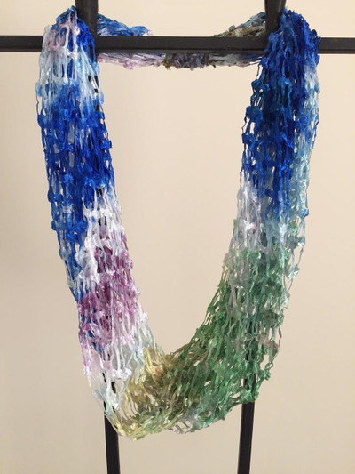 Open Weave Scarf Necklace,  Northern Lights
