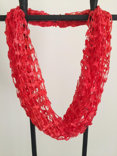 Open Weave Scarf Necklace, Flamenco Dancer