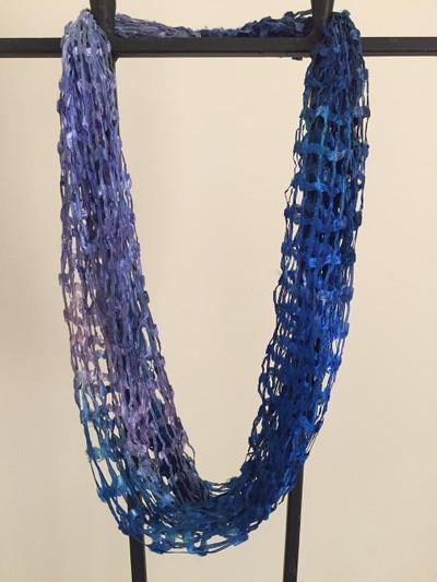 Open Weave Scarf Necklace, Amalfi Coast