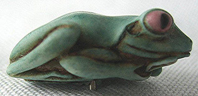 Frog Pin, Blue -  Fin-Alley Gifts Exclusive - Adam Binder 2006 US Artist Tour