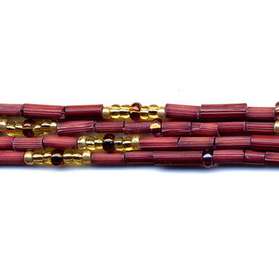 handmade single strand zulugrass african bead jewelry in marion amber