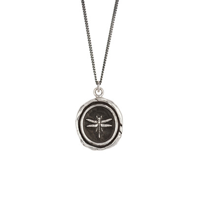 """Dragonfly""- Sterling Silver 18"" Necklace"