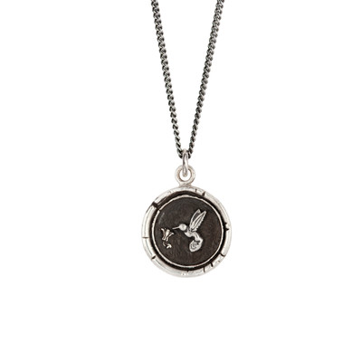 """""""Hummingbird""""- Sterling Silver 18"""" Necklace"""