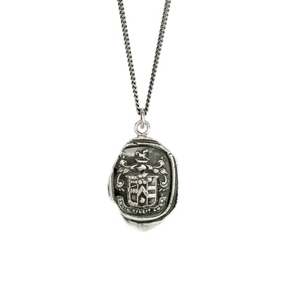 """""""Love Conquers All""""- Sterling Silver 22"""" Necklace"""