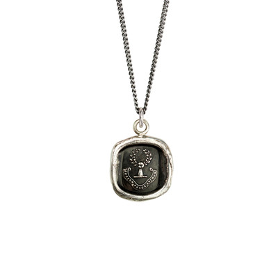 """""""Inner Strength""""- Sterling Silver 22"""" Necklace"""