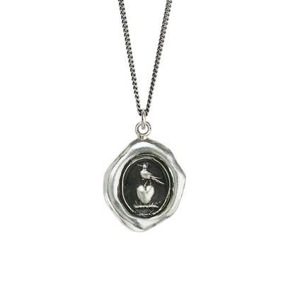 """""""Martlet & Heart"""" Sterling Silver 18"""" Necklace"""