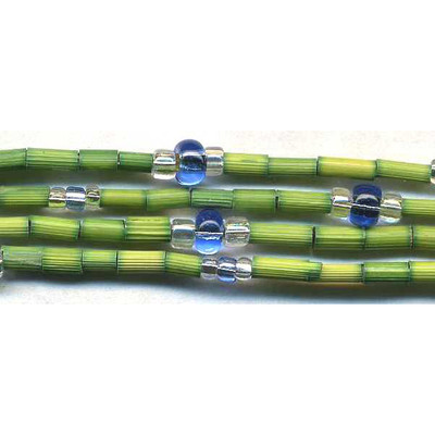 handmade single strand zulugrass african bead jewelry in leprechaun