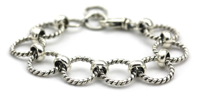 Sura Twisted Circle Station Bracelet
