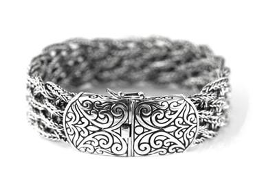 Weda Ornate Filigree Clasp Bracelet