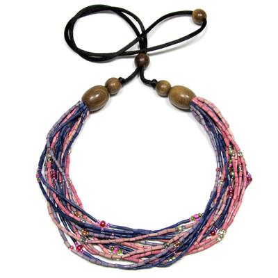 handmade zulugrass african bead necklace in jamala