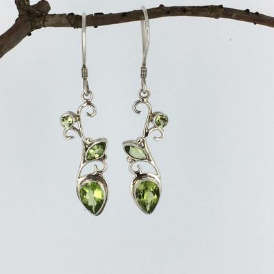 cf699fde4 Amethyst Triple Stone Sterling Silver Earrings - Mima's Of Warwick, LLC