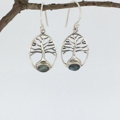 9ecfda8dc Sterling Silver Oval Labradorite Earrings - Mima's Of Warwick, LLC