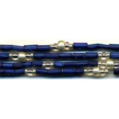 handmade single strand zulugrass african bead jewelry in navy safarisilver