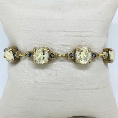 Gold Champagne, Multi Crystal Bracelet