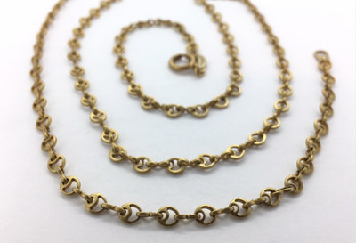 Gold Circlet Chain Necklace