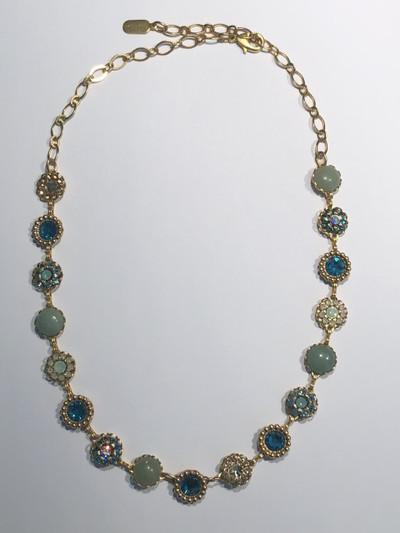 Vintage Multi-Flower Austrian Crystal Necklace