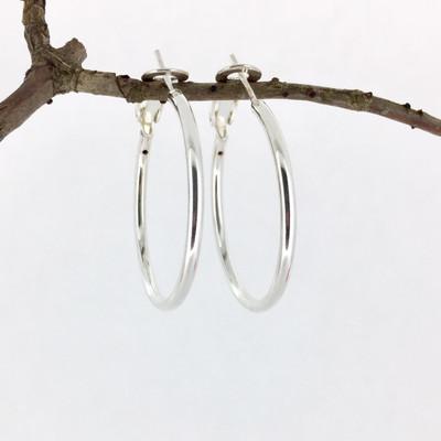 Hoop Earrings with Clasp