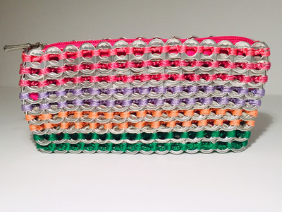 Soda Tab Clutch Bag , Rainbow