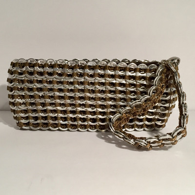 Soda Tab Side Handle Clutch, w/Handle - Bronze
