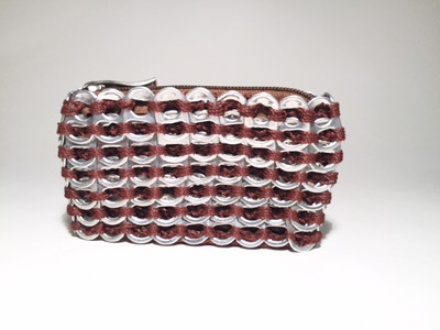 Soda Tab Rectangular Coin Purse, Clay Brown