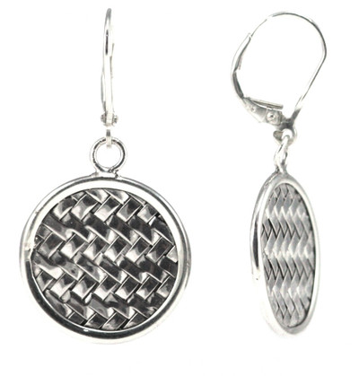 Anya Woven Small Disc Earring