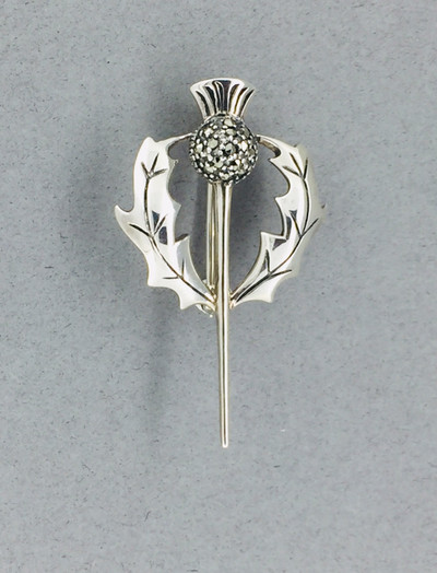 Marcasite Thistle Pin