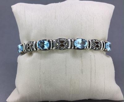 Blue Topaz Marcasite Bracelet