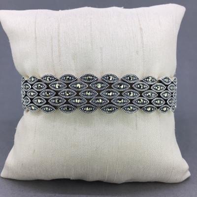 Marcasite Wide Band Bracelet
